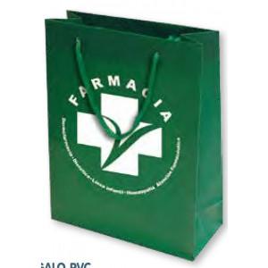 Bolsa de regalo PVC en tamaño ancho:(31 cm) + Fuelle(9 cm) x Alto(39 cm)