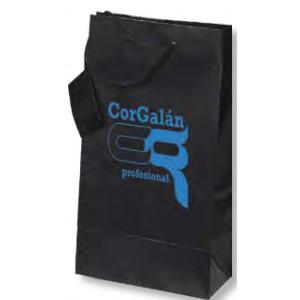 Bolsa de regalo de papel plastificado en tamaño ancho:(16 cm) + Fuelle(10 cm) x Alto(23 cm)