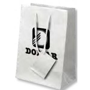 Bolsa de regalo de papel plastificado en tamaño ancho:(22 cm) + Fuelle(11 cm) x Alto(30 cm)