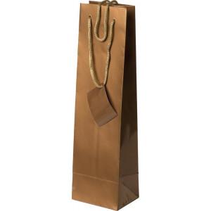 Bolsa de regalo de papel plastificado en tamaño ancho:(11 cm) + Fuelle(10 cm) x Alto(36 cm)
