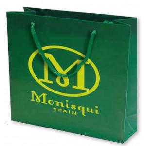 Bolsa de regalo PVC en tamaño ancho:(50 cm) + Fuelle(12 cm) x Alto(40 cm)