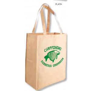 Bolsa de regalo de papel plastificado en tamaño ancho:(30 cm) + Fuelle(14,5 cm) x Alto(39 cm) Fabricada en papel 100 grs./m2 forrado de poliester tratado.