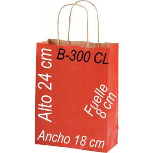 Bolsa Multiusos papel Kraft 18x24 Asa retorcida fondo de color