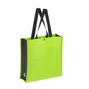 bolsa de rafia verde lima laterales negros 38x38