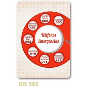 calendario de bolsillo telefonos emeregencias