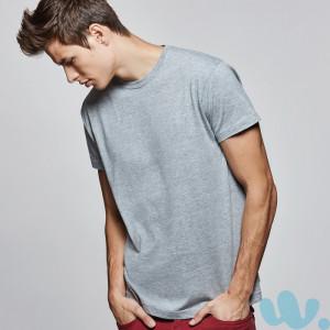 camiseta publicidad roly atomic gris