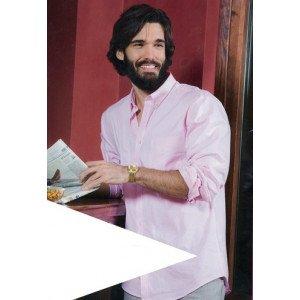 camisa laboral hombre manga larga algodón