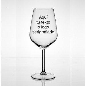 Copa degustación vinos grabada