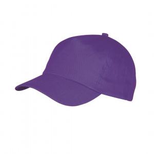 Gorra de algodón color morado