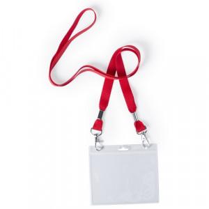Lanyard con identificador cinta roja