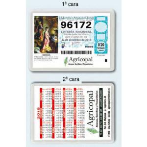 Calendario publicitario ideal para fraccionar lotería