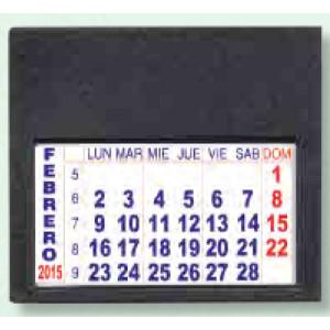 Mini calendario Adhesivo de Pvc tamaño Alto: 5,7 cm x Ancho:6,5 cm
