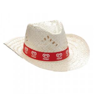 sombrero de paja publicitario con cinta perimetral