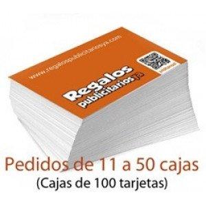 Tarjetas de visita + de 10 cajas