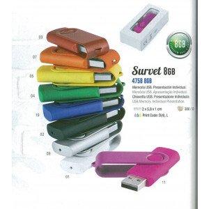memoria usb survet 8 GB 9 colores