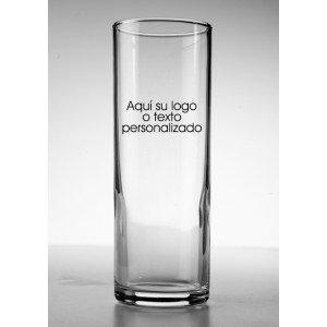 vaso tubo cristal serigrafiado