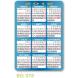 calendario de bolsillo dorso para publicidad