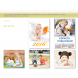 calendario publicidad de pared 5 hojas infantil bebés