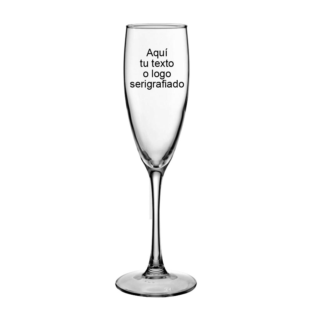 Copa champan 17 cl grabada